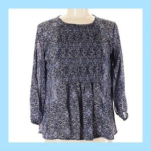 Xhilaration High Low Floral Top-NWT